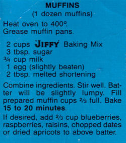 Jiffy Baking mix Muffins Recipe
