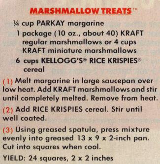 Original Rice Krispies Squares Recipe