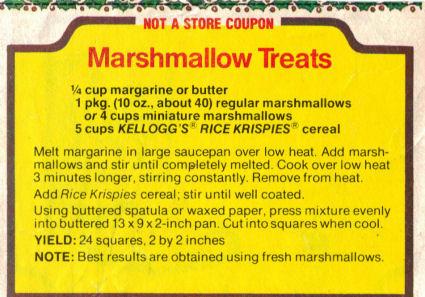 Original Rice Krispies Treats Recipe