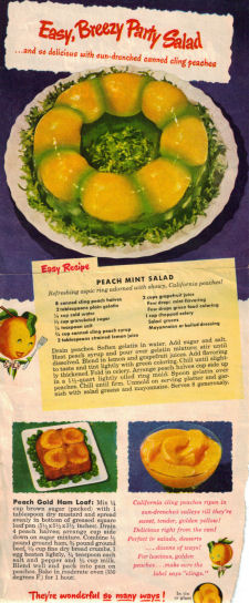 Peach Mint Salad Recipe - Click To View Larger