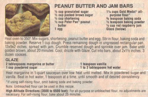 Peanut Butter & Jam Bars Recipe