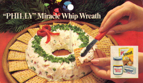 Philadelphia Cream Cheese And Miracle Whip Wreath