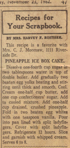 Pineapple Ice Box Cake Recipe