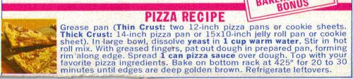 Homemade Pizza Recipe Clipping