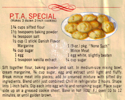 P.T.A. Special Cookies Recipe