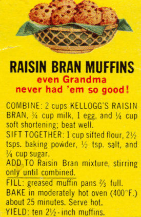 Kellogg's Raisin Bran Muffins Recipe