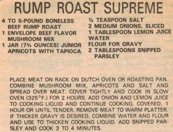 Rump Roast Supreme Recipe