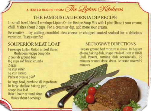 Lipton S Meat Loaf Recipe 171 Recipecurio Com
