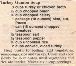 Turkey Gumbo Soup Recipe