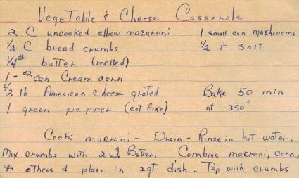 Vegetable & Cheese Casserole Recipe