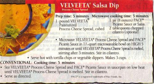 Velveeta Salsa Dip Recipe Recipecurio Com