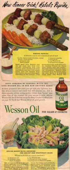 Vintage Wesson Oil Recipes - Click To View Larger