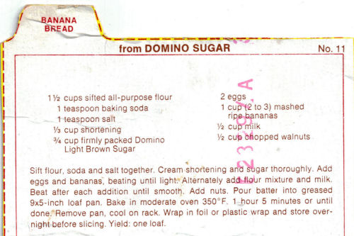 Domino Sugar Banana Bread Recipe