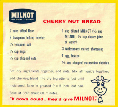 Recipe Clipping For Cherry Nut Bread