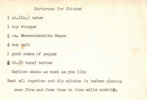 Recipe For Chicken Barbecue Sauce