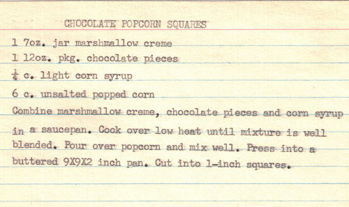 Chocolate Popcorn Squares Recipe