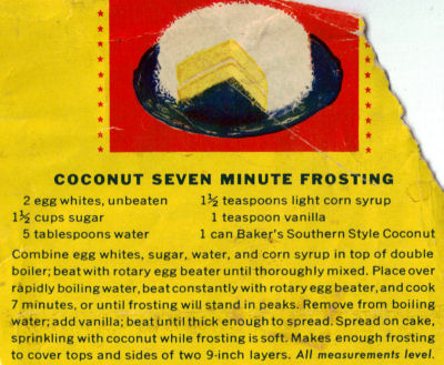 Coconut 7 Minute Frosting Recipe