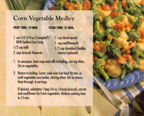 Corn Vegetable Medley Recipe