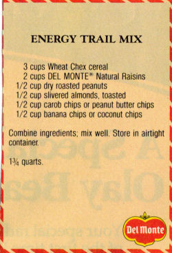 Recipe Clipping For Energy Trail Mix