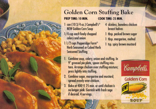 Golden Corn Stuffing Bake Recipe