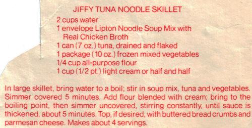 Recipe For Jiffy Tuna Noodle Skillet