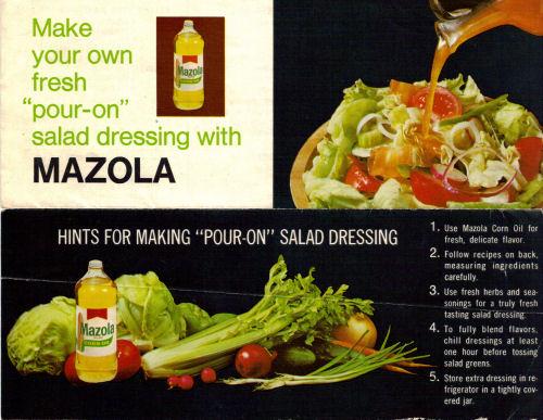 Cover of Mazola Salad Dressing Recipes Sheet