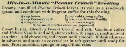 Peanut Crunch Frosting Recipe Clipping