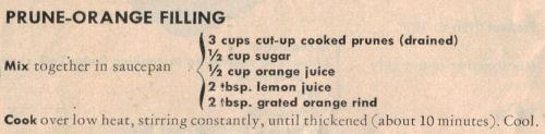 Prune-Orange Filling Recipe Clipping