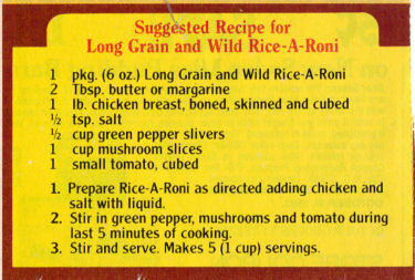 Rice-A-Roni Chicken Recipe