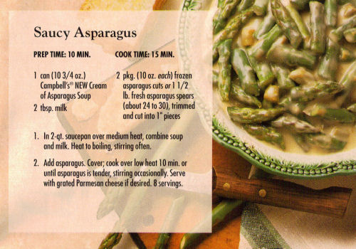 Saucy Asparagus Recipe