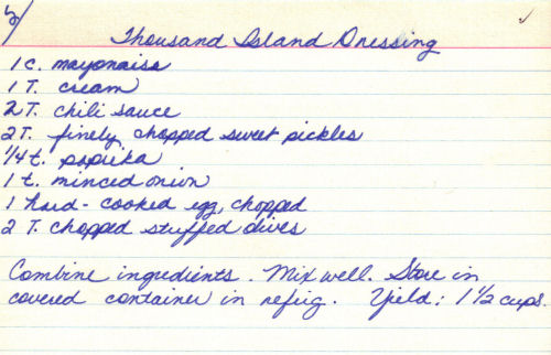 Homemade Thousand Island Dressing Recipe Recipecuriocom