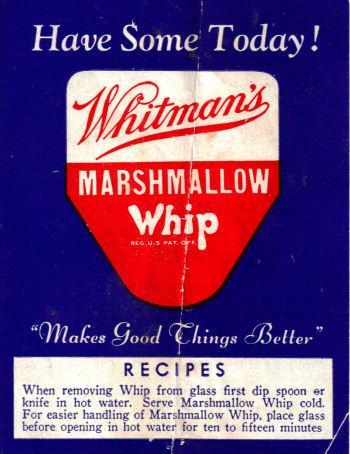 Whitman's Marshmallow Whip Cover