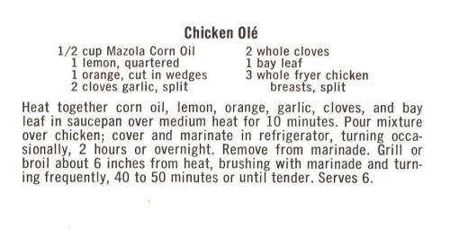 Recipe For Chicken Ole