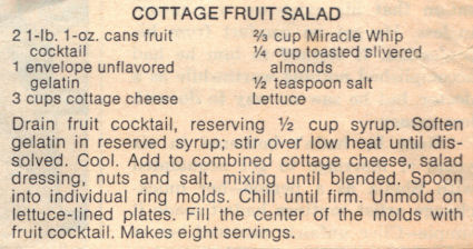 Recipe Clipping For Cottage Fruit Salad
