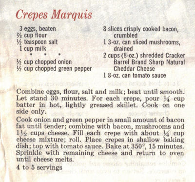 Recipe For Crepes Marquis