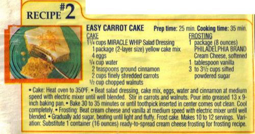 Easy Carrot Cake Recipe Clipping 171 Recipecurio Com
