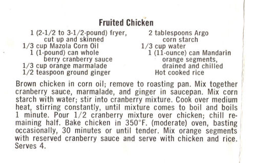 Recipe For Fruited Chicken