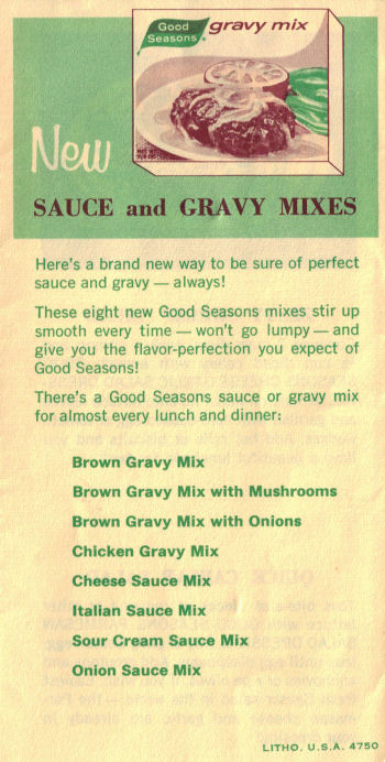 Good Seasons Gravy Mixes