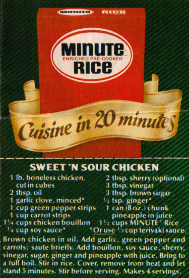 Recipe For Oriental Sweet 'N Sour Chicken