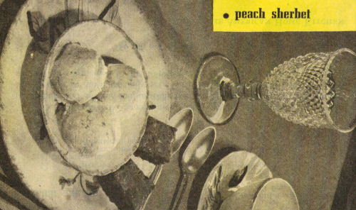 Vintage Clipping For Peach Sherbet