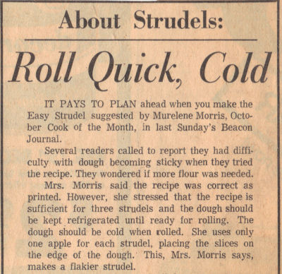 About Strudels Clipping