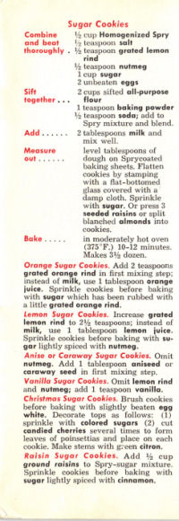 First Part Of Page 7 of Cookbook - Click To View Larger Size