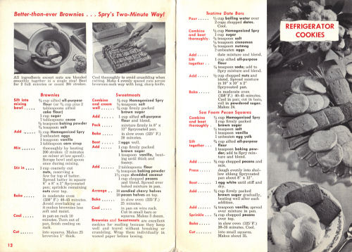 Pages 12 and 13 of Cookbook - Click To View Larger Size