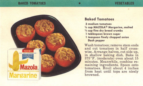 Vintage Recipe For Baked Tomatoes