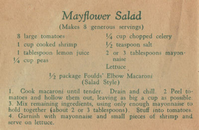 Fould's Vintage Recipe For Mayflower Salad