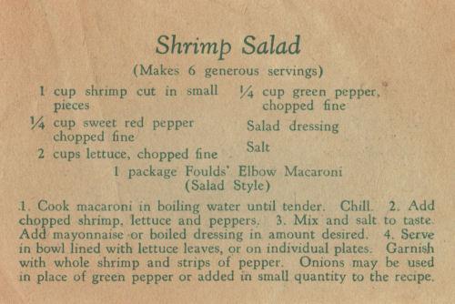 Fould's Vintage Shrimp Salad