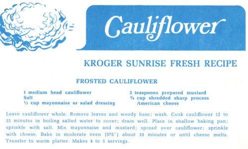 Frosted Cauliflower Recipe