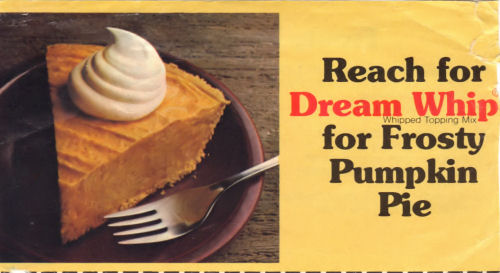 Recipe Clipping For Frosty Pumpkin Pie
