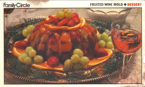 Fruited Wine Mold Recipe Card