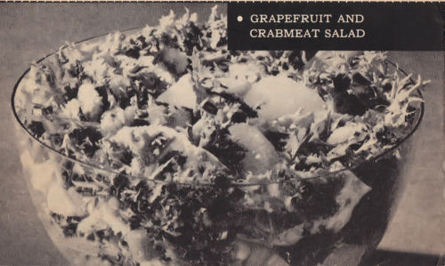Vintage Recipe - Grapefruit And Crabmeat Salad